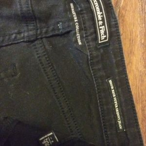Abercrombie and fitch black skinny jeans